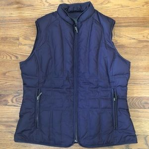 Eddie Bauer purple goose down vest